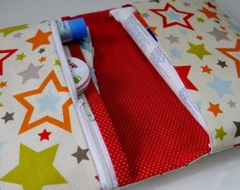 Stars Diaper Clutch   Diaper Bag   Diaper Wipes Bag   Diaper Wipes Clutch   Baby Clutch   Baby Shower Gift Idea   4th of July