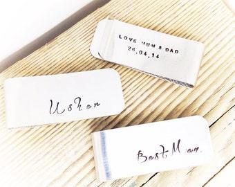 Best Man Gift | Mens Money Clip | Usher Gift | Mens Accessory | Gift ideas for Best Man | Gifts ideas for Usher | Wedding Gifts (W201)