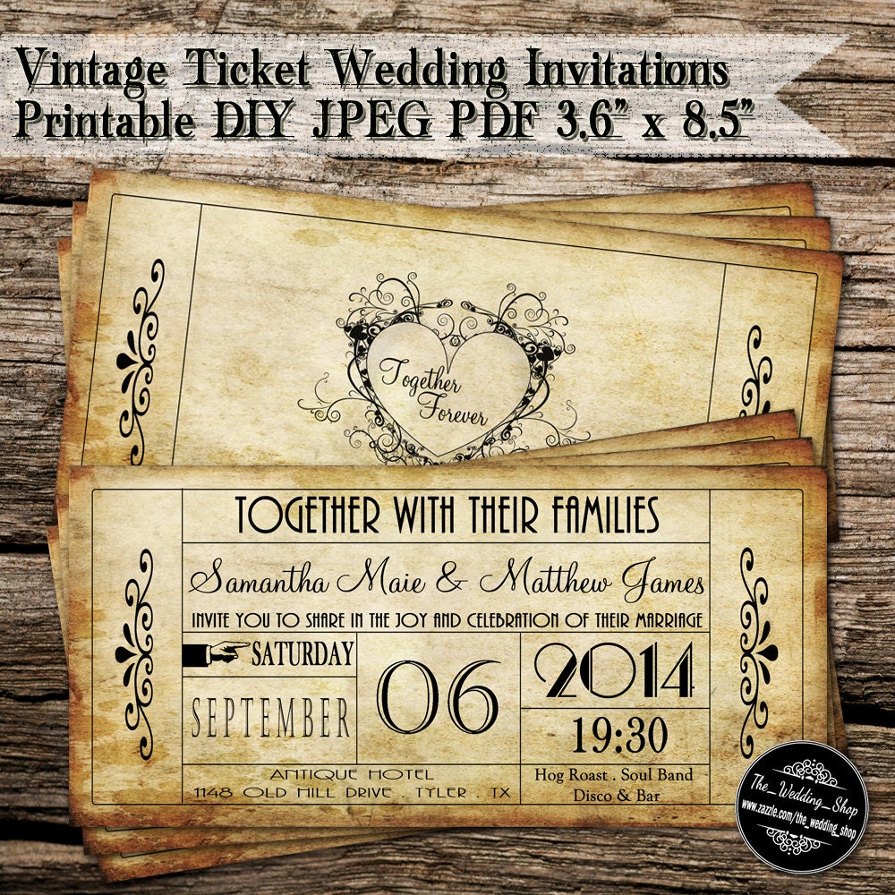 Vintage Wedding Invite
