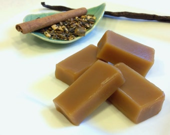 Chai flavored Caramel, One-Half lb. Original, Buttery Soft Homemade Oregon Chai Caramels individually wrapped with gift packaging