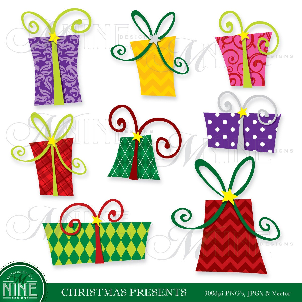 Presents clipart | Etsy