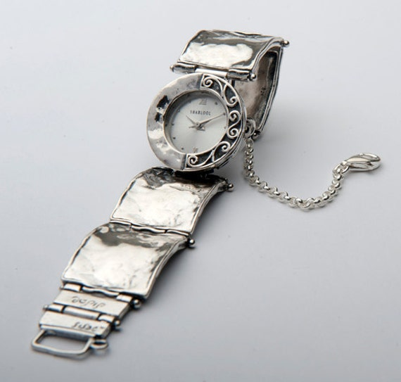 Precious Natural Gem 925 Silver Watch