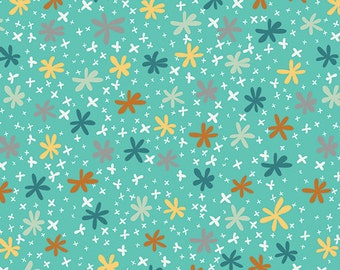 SALE - Sweetish Turquoise Fabric by Jeni Baker for Art Gallery Fabrics 0.5m length