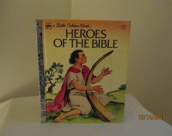 """SALE - Vintage Little Golden Book """"Heroes of the Bible"""""""