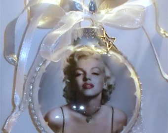 Marilyn inspired Tribute Christmas Ornament