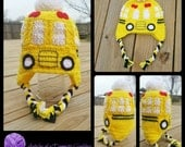 Bus Driver School Bus Earflap Hat! Perfect Gift!!