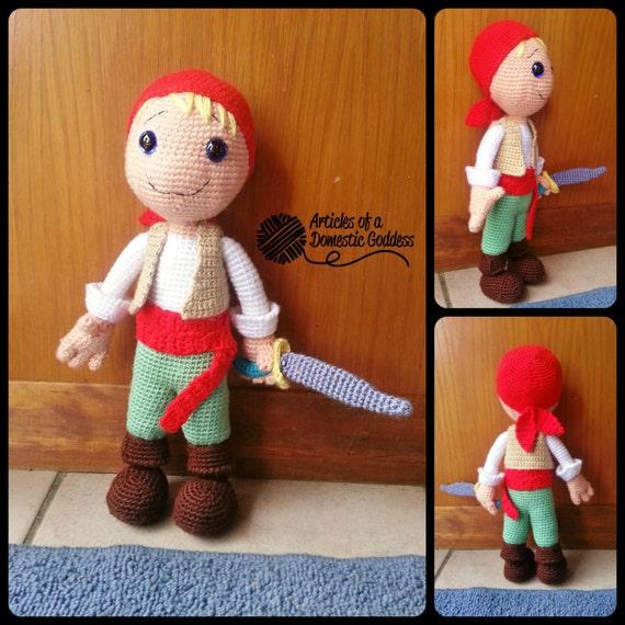 Items similar to Pirate Boy Amigurumi Stuffed Doll on Etsy