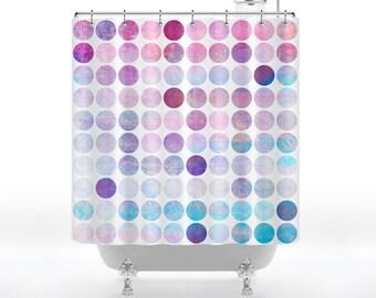 Rainbow Gum Balls  Shower Curtain