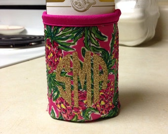 Lilly Pulitzer Monogrammed Can Cooler