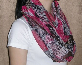 Infinity Scarf / Red Infinity Scarf / Infinity scarf for woman