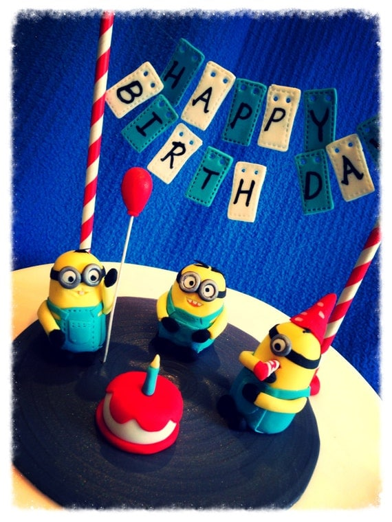 Minion Happy Birthday Cake 6x Minions Birthday Cake