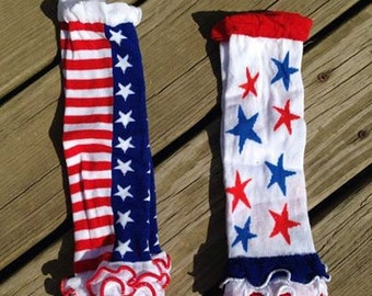 4th of July leg warmers : patriotic leg warmers - red white and blue leggings
