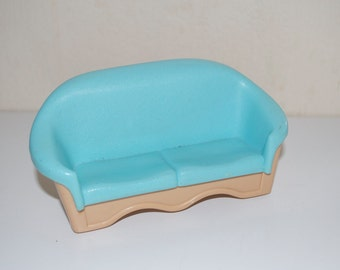 Fisher Price Loving Family Dream Dollhouse Blue Couch 1993