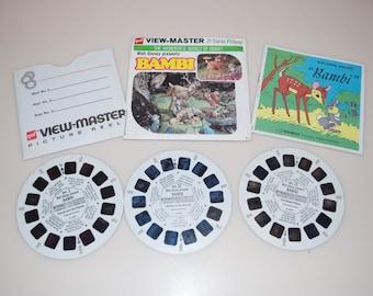 Bambi Walt Disney View-Master GAF Sawyer's 3 Reels Story Booklet B 400