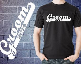 Groom 2014 T Shirt Gift For Groom Wedding Tshirt Shirt Tee