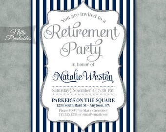 Elegant Retirement Invitations with adorable invitations layout