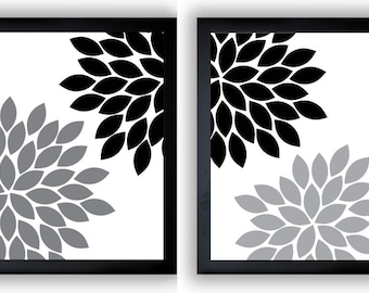 Black And White Flower Wall Art