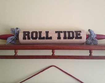 ROLL TIDE Laser Engraved Rolling Pin
