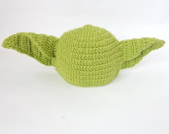 Yoda Baby Hat From Star Wars - ed Costume Wig Beanie For Boys - Premie, Newborn, Halloween / Cosplay Wig n