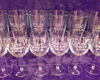 Bridal Party Glasses - PERSONALIZED For Free