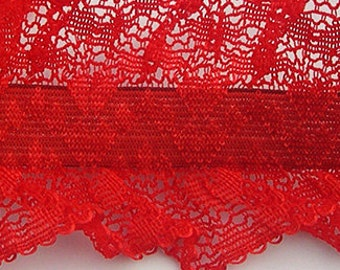 French Made Garter Lace -  Stretch Lace Trim Double Edged Garter Lace Item #PFA954B08