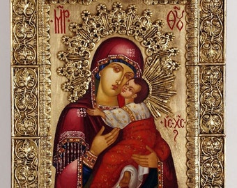Baroque Madonna - Hand Painted Icon
