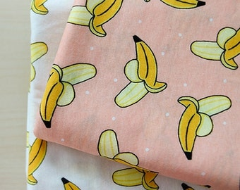 Cotton Jersey Knit Fabric Banana in 2 Colors By The Yard