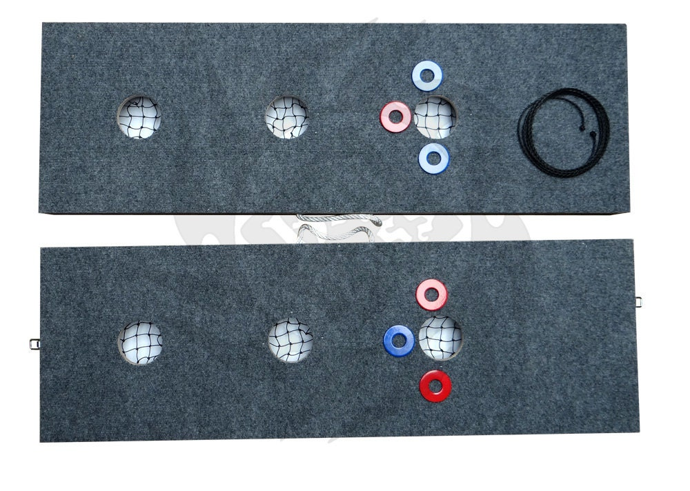 3 Hole Washer Game With 6 Washers Horseshoes Pitching Toss