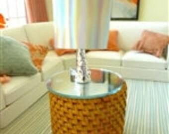 lamp - silver base dollhouse miniature