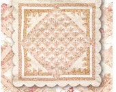 "PDF Quilt Pattern ""Meet Me In Paris"" Scallop ~ Fan Quilt"