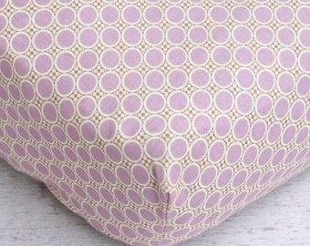 25% OFF LAST ONE! - Primrose Purple Dot Crib Sheet