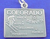 COLORADO Charm, STATE Of Colorado Charm .925 Sterling Silver