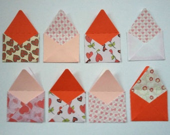 12 handmade Valentines Love Letters card toppers - pre assembled ready to use