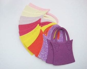 20 Pretty Handbag Die Cuts for cards/toppers *cardmaking*scrapbooking* craft project