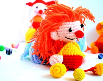 Crochet Amigurumi Clown - Crochet Clown - Clown Doll - Crochet Clown - Amigurumi Clown - Crochet Clown - Soft toy