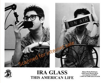 Ira Glass (Press Photo) 1980's ~ This American Life ~ NPR, On Air Sign
