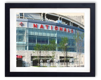 Washington Nationals Stadium Sign Upcycled Dictionary Art Print Repurposed Book Print Recycled Dictionary Page - Buy 2 Get 1 FREE