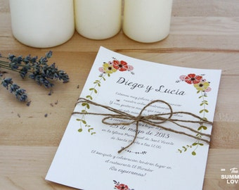 Flowers - Wedding stationary
