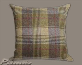 Purple plaid cushion cover. Scottish tartan wool. Tweed pillow cover. Tweed cushion cover. Huntingtower Grape Throw pillow decor Moon fabric