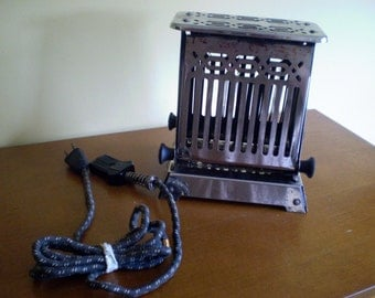 Toaster - Electric Hot Point Metal Toaster, Vintage Kitchen Gadget and Decor Piece