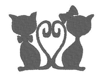 Cat Embroidery Design Instant Download
