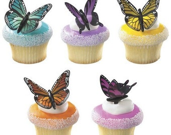 Butterfly Cupcake Topper - 6/Pack
