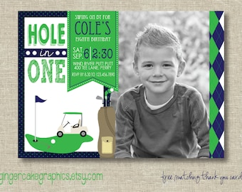 Golf Birthday Invitation - Putt Putt - Printable