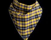 Yellow Plaid Bandana Bib
