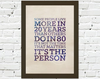 0069 Dr Who Quote A3 Wall Art Print Multiple Sizes