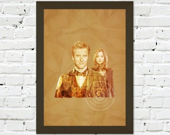 0086 Dr Who Peter Capaldi A3 / A4 Wall Art Print
