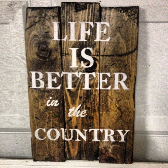 Items Similar To Vintage, Rustic Wooden Sign, Home Wall