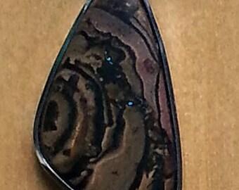 Lovely Australian boulder opal pendant in silver