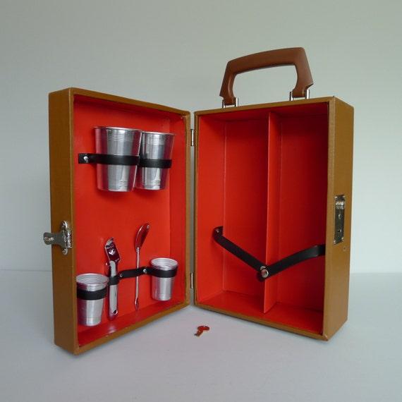 Vintage imperial travel portable bar - Mobile bar vintage ...