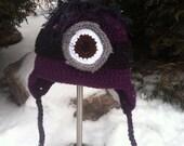 Evil Minion Crocheted Hat